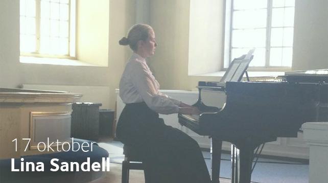 Emy Stahlgestaltar Lina Sandell på Afton mellan himmel och jord i Vårfrukyrkan 17 oktober