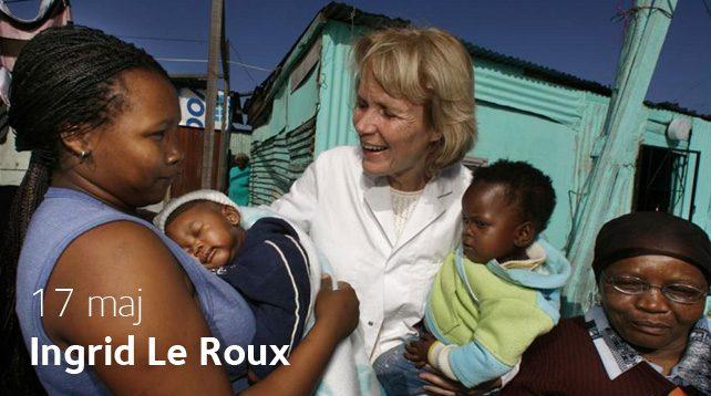 Ingrid Le Roux besöker Afton mellan himmel och jord i Vårfrukyrkan