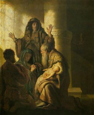 Jesus och Symeon
