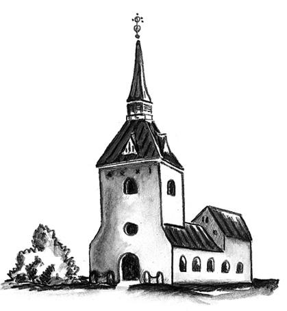 Illustration av Brännkyrka kyrka