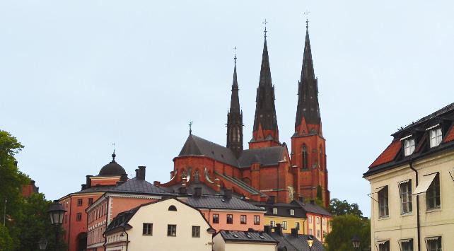 Pilgrimsvandra i Uppsala
